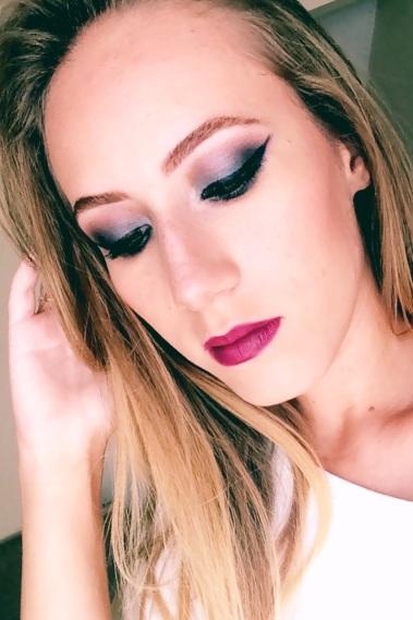 Eduarda makeup maquiagem azul marinho
