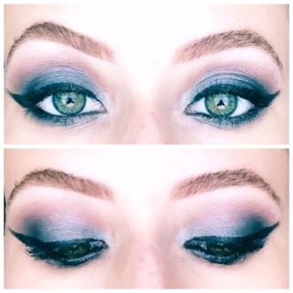 maquiagem azul marinho por eduarda makeup